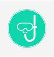 snorkel icon sign symbol vector image vector image