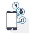 social media communication icon vector image vector image
