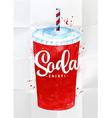 Soda watercolor vector image vector image