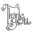 thank you lettering hand drawing vector image