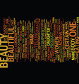 the beauty within text background word cloud vector image vector image