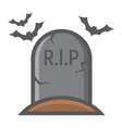 tombstone filled outline icon halloween scary vector image vector image