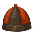 traditional chinese hat for men asian clothes vector image vector image