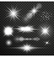 Transparent glow light effect vector image vector image