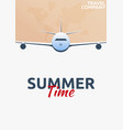 travel poster summer time vacation trip to vector image