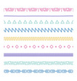 tribal brushes border ethnic hand drawn vector image vector image