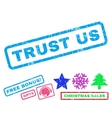 Trust Us Rubber Stamp vector image vector image