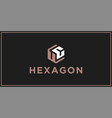 uc hexagon logo design inspiration vector image vector image