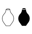 vase icon set vector image vector image