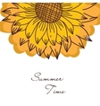 vintage ornament with sunflowers vector image vector image