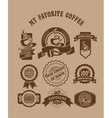 vintage retro coffee badges vector image