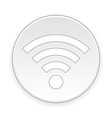 Wi-Fi button vector image