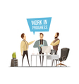 Work Meeting Cartoon Style Design vector image