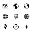 world map icon set vector image vector image
