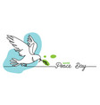 world peace day minimal background web banner vector image