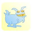 predatory toothy rabbit vector image