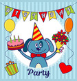 birthday party invitation card or greeting card a vector image