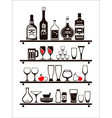 food and drinks icons set drawn up as kitchen vector image