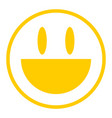 yellow icon smiling face vector image