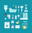 plumbing sanitary engineering hygiene vector image