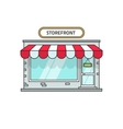 Store isolated storefront vector image