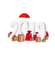 2019 new year text isolated vector image vector image