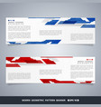 abstract modern gradient blue and red technology vector image vector image