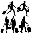 airport silhouettes vector image vector image