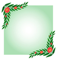 An empty template with plant borders vector image vector image