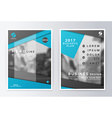 Annual report brochure Business plan flyer design vector image