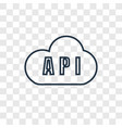 api concept linear icon isolated on transparent vector image