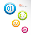 Badges with numbers vector image
