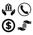 Banking Service Flat Icons vector image