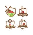 barn logo design template vector image