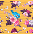 Beautiful seamless pattern with pink rose flowers