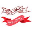 big sale ribbon banner vector image
