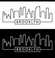 Brooklyn new york city skyline linear style vector image