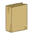 cartoon brown paper bag vector image vector image