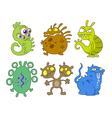 cartoon germs vector image vector image