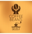 Coffee Bean Concept Machine Background vector image