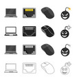 computer system office and other web icon in vector image vector image