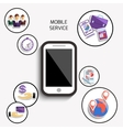 Concept of mobile services for business vector image vector image