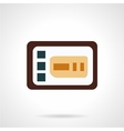Control panel flat icon vector image vector image
