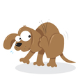 Doggie and Fleas vector image