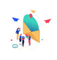 email marketing - modern colorful isometric vector image vector image