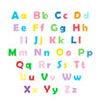 english color alphabet vector image vector image
