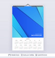 english planning calendar vector image