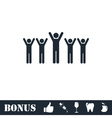 Fans icon flat vector image vector image