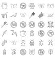 flying icons set outline style vector image vector image