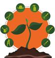 Gardening design vector image